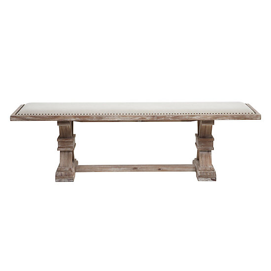 Archer Wash Oak Wood Bench