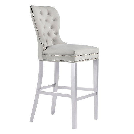 Charlotte Stool High Gloss White Bar Stools Dining