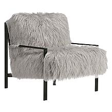 Axel Fur Accent Chair - Black