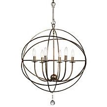Eclipse Chandelier - Olde Silver