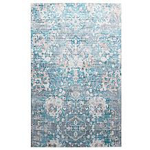 Virginia Rug - Blush/Cerulean