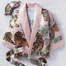 Tigress Robe Set - Blush