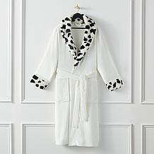 Faux Fur Robe - Dalmatian