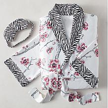 Sakura Robe Set - Black/White