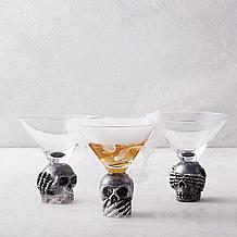 Wise Skulls Martini - Set of 3