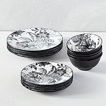 Fleur Noir Dinnerware Sets