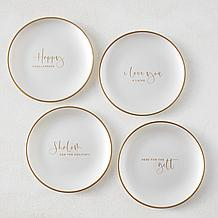 Happy Challahdays Plates - Set of 4