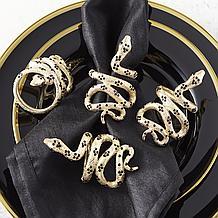 Snake Napkin Ring - Set of 4