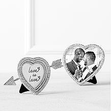 Jeweled Heart Photo Frame
