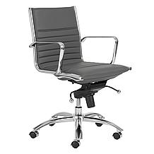 Darby Low Back Office Chair - Grey