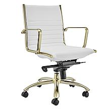 Darby Low Back Office Chair - Wh...