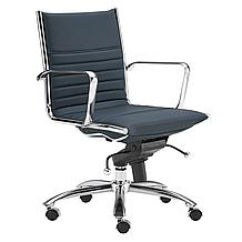 Darby Low Back Office Chair - Blue