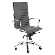 Darby High Back Office Chair - Grey