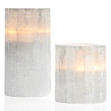 Selenite Votive