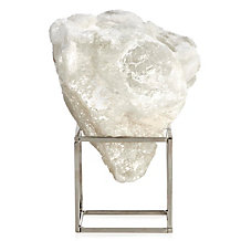 Selenite Cloud On Metal Stand