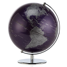 World Globe - Aubergine