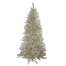 Pre-Lit Tinsel Tree
