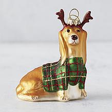 Holiday Dog Ornament - Dachshund