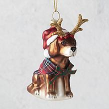 Holiday Dog Ornament - Beagle