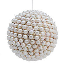 Pearl Glitter Ball Ornament