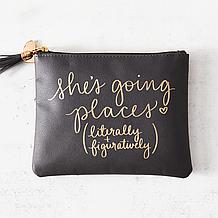 She's Going Places Cosmetics Bag