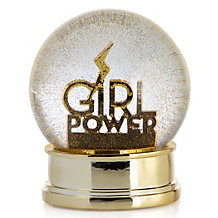 Girl Power Snow Globe