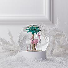 Flamingo Snow Globe