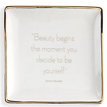 Beauty Begins Trinket Tray