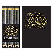 F**king Brilliant Journal & Pencils