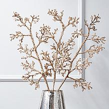 Glitter Ice Branch - Set of 3