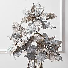 Glittered Poinsettia - Set of 3