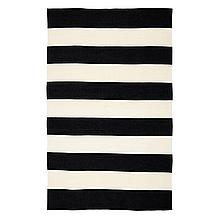 Accra Outdoor Stripe Rug - Black...