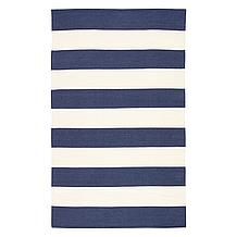 Accra Outdoor Stripe Rug - Navy/...