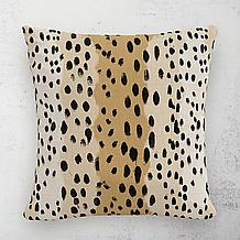 Linen Leopard Outdoor Pillow 18