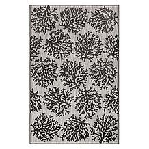 Coral Outdoor Rug - Charcoal