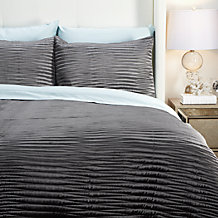 Alta Quilt Bedding Set - Charcoal