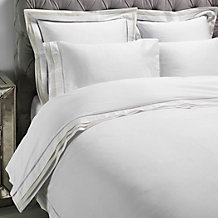 Contrast Boarder Bedding - Ivory