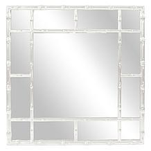 Bamboo Mirror - Glossy White