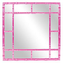 Bamboo Mirror - Glossy Hot Pink