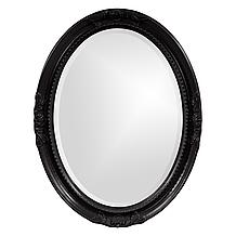Queen Ann Mirror - Glossy Black