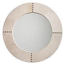 Round Cross Stitch Mirror - White