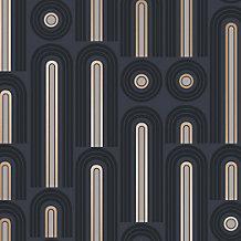 Wave Graphite Wallpaper