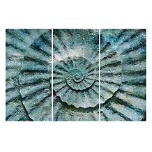 Deep Blue Sea Shell - Set Of 3