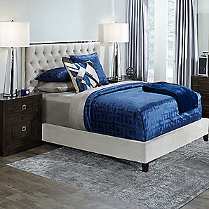 Prague Modern Blues Bedroom Inspiration