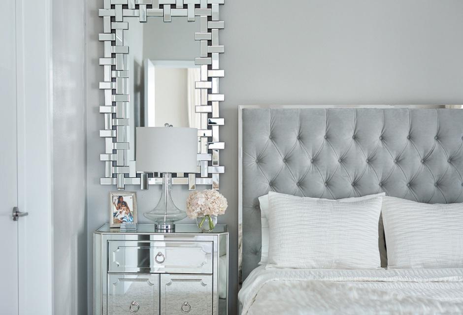 The Prague bed and Santorini Mirror