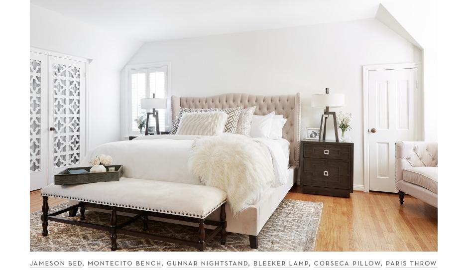 Sazan and Stevie's new chic bedroom