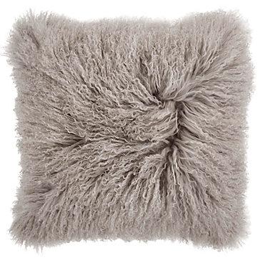 Grey Mongolian Fur Pillow Z Gallerie