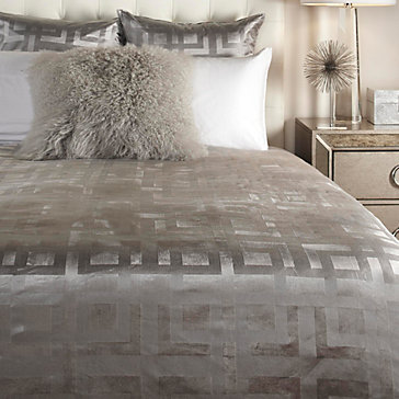 Ming Velvet Bedding Steel Emory Acrylic Bedroom