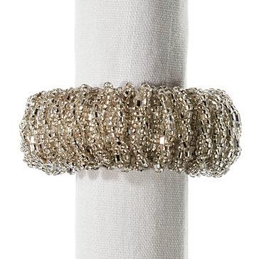 Beaded Napkin Ring Set