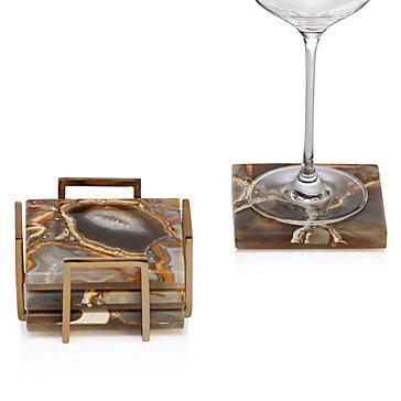 Granada Agate Coaster Set